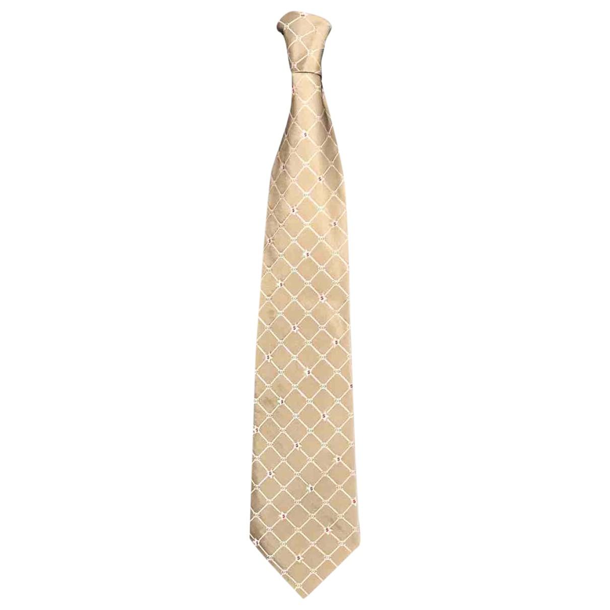 Chanel \N Krawatten in  Gold Seide