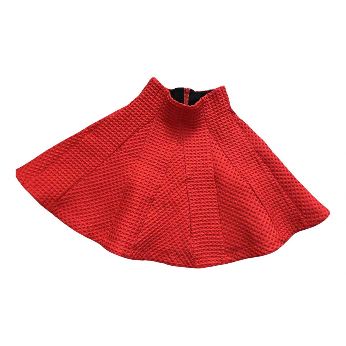 Maje - Jupe   pour femme en coton - rouge