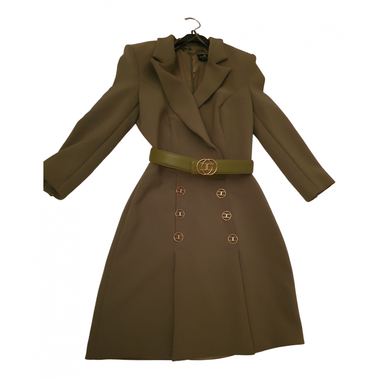 Elisabetta Franchi \N Kleid in  Gruen Baumwolle