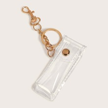 Clear PVC Pocket Keychain With Lobster Clasp
