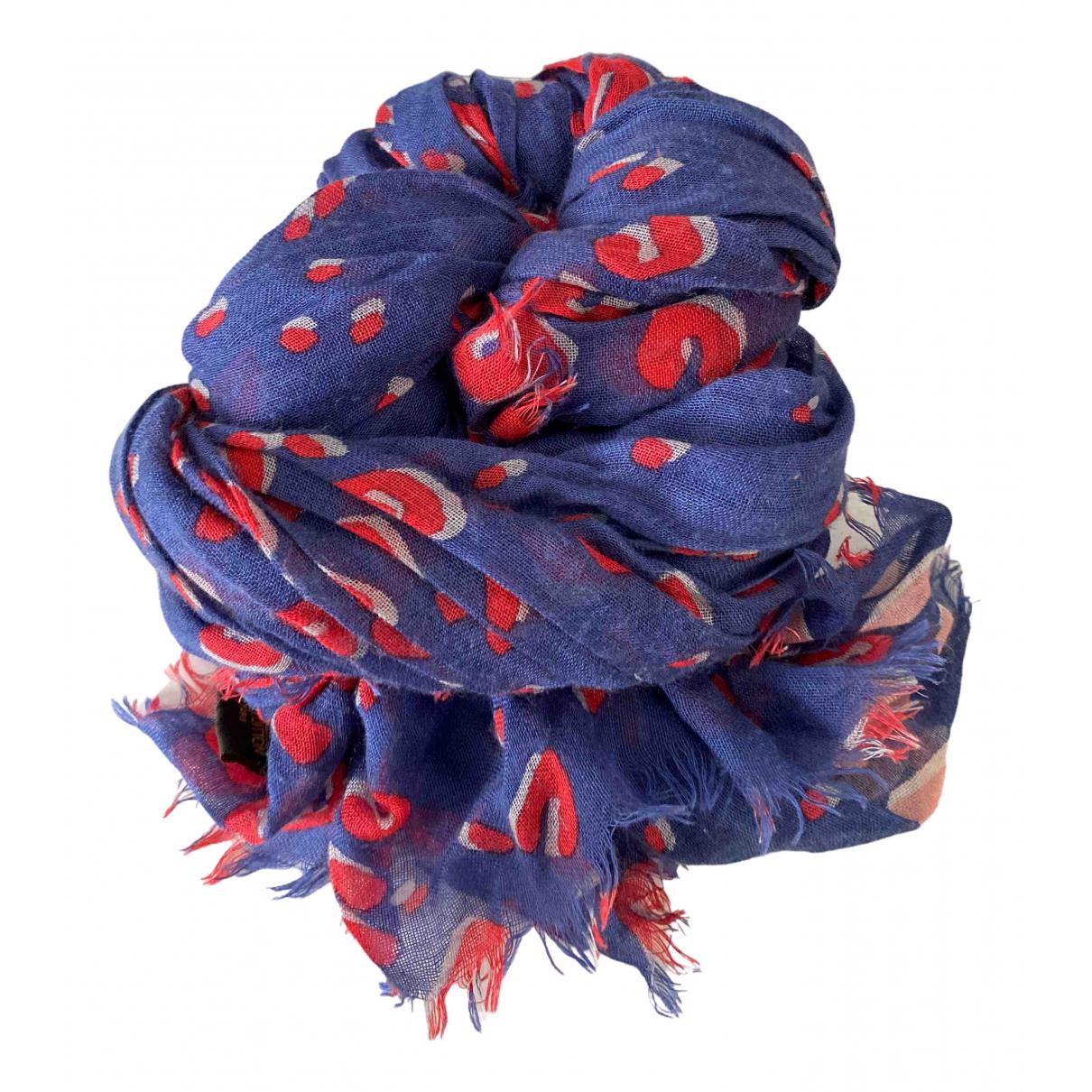 Louis Vuitton N Blue Cashmere Silk handkerchief for Women N
