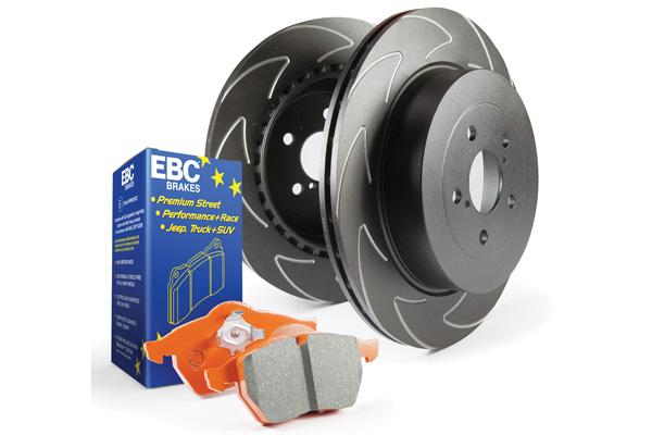 EBC Brakes S7KR1052 S7KR Kit Number REAR Disc Brake Pad and Rotor Kit ED91407+BSD7441 Rear