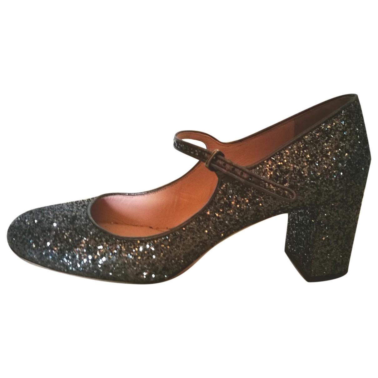 Miu Miu \N Grey Glitter Heels for Women 40 EU