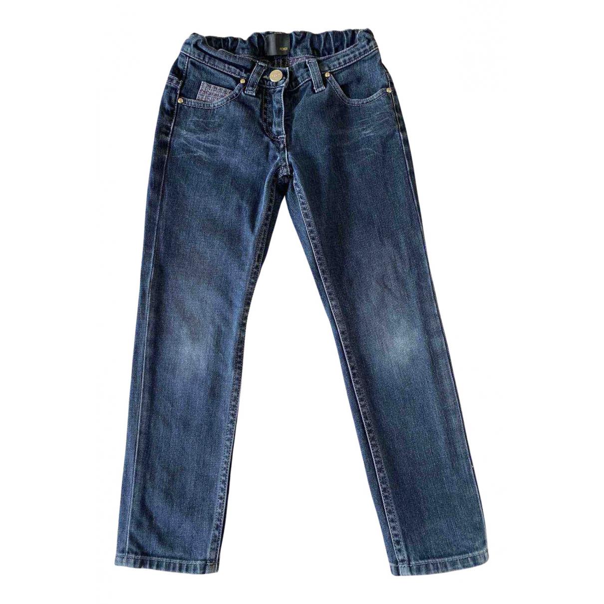 Fendi - Pantalon   pour enfant en denim - bleu