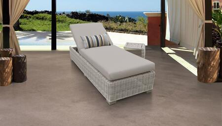 Coast Collection COAST-1x-ST Patio Set with 1 Chaise   1 Side Table - 1 Set of Beige
