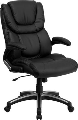 BT-9896H-GG High Back Black Leather Executive Office