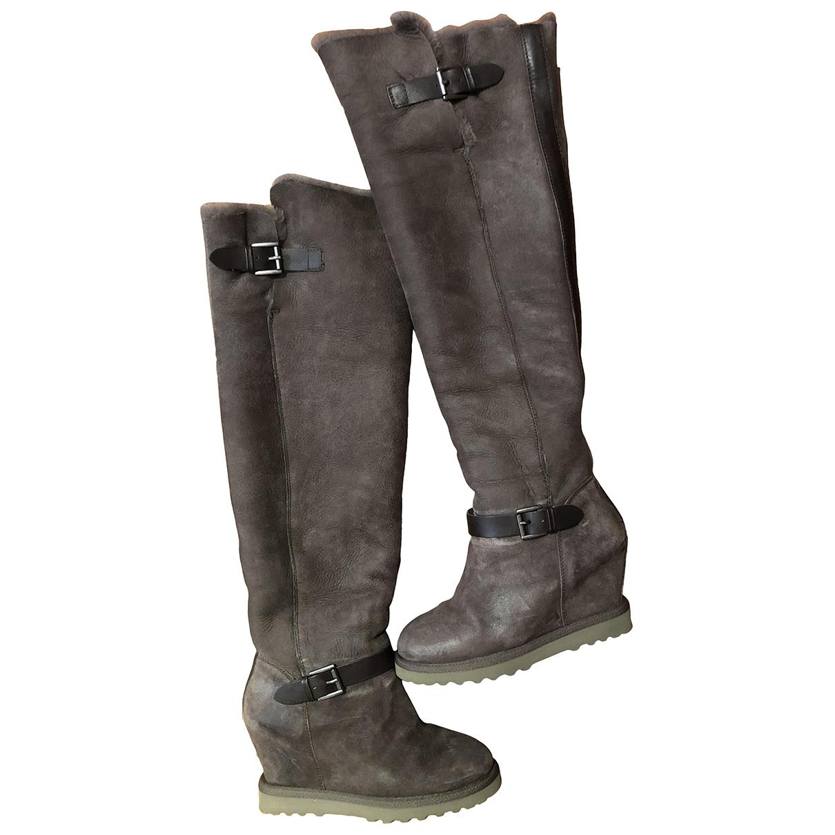 Ash \N Grey Suede Boots for Women 37 EU