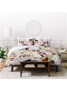 400 Thread Count Crease-resistant Polyester 4-Piece Bedding Sets/Duvet Cover