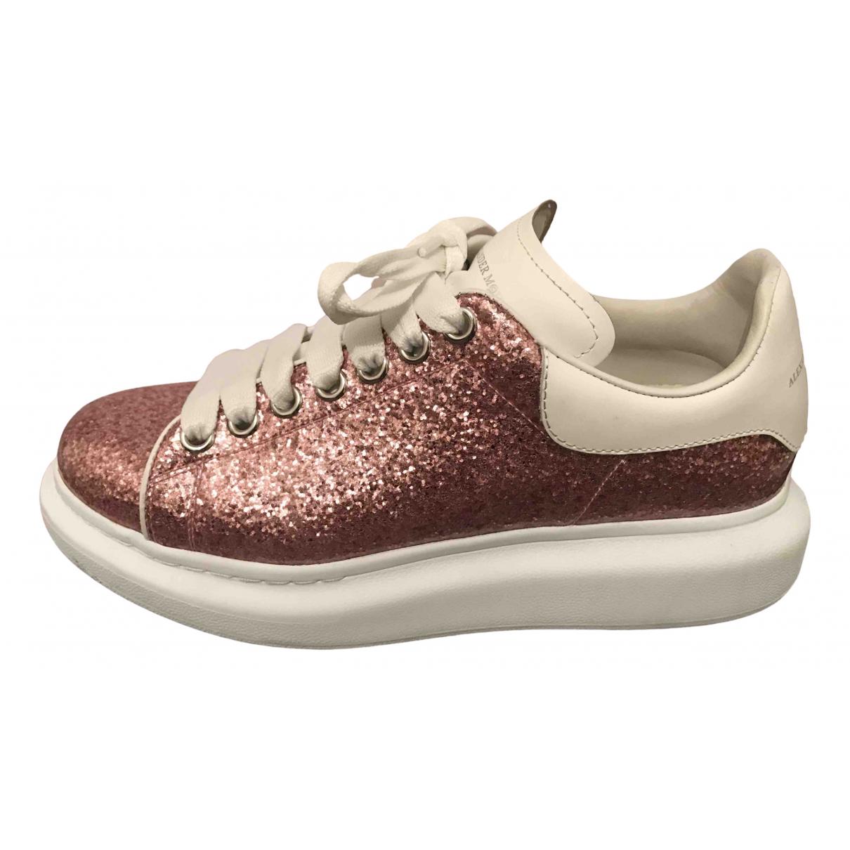 Alexander Mcqueen Oversize Sneakers in  Rosa Mit Pailletten