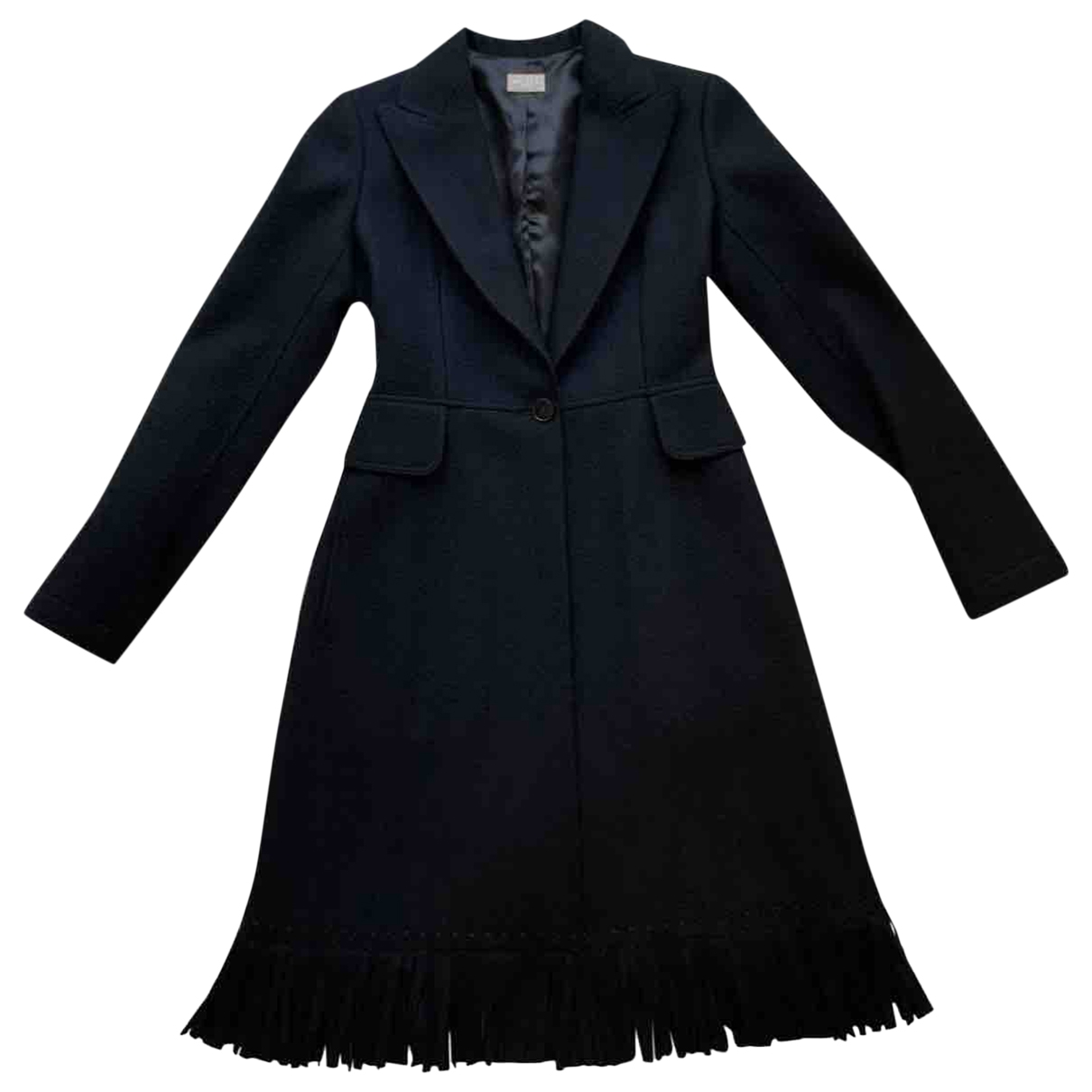 Alaia \N Trench in  Schwarz Wolle