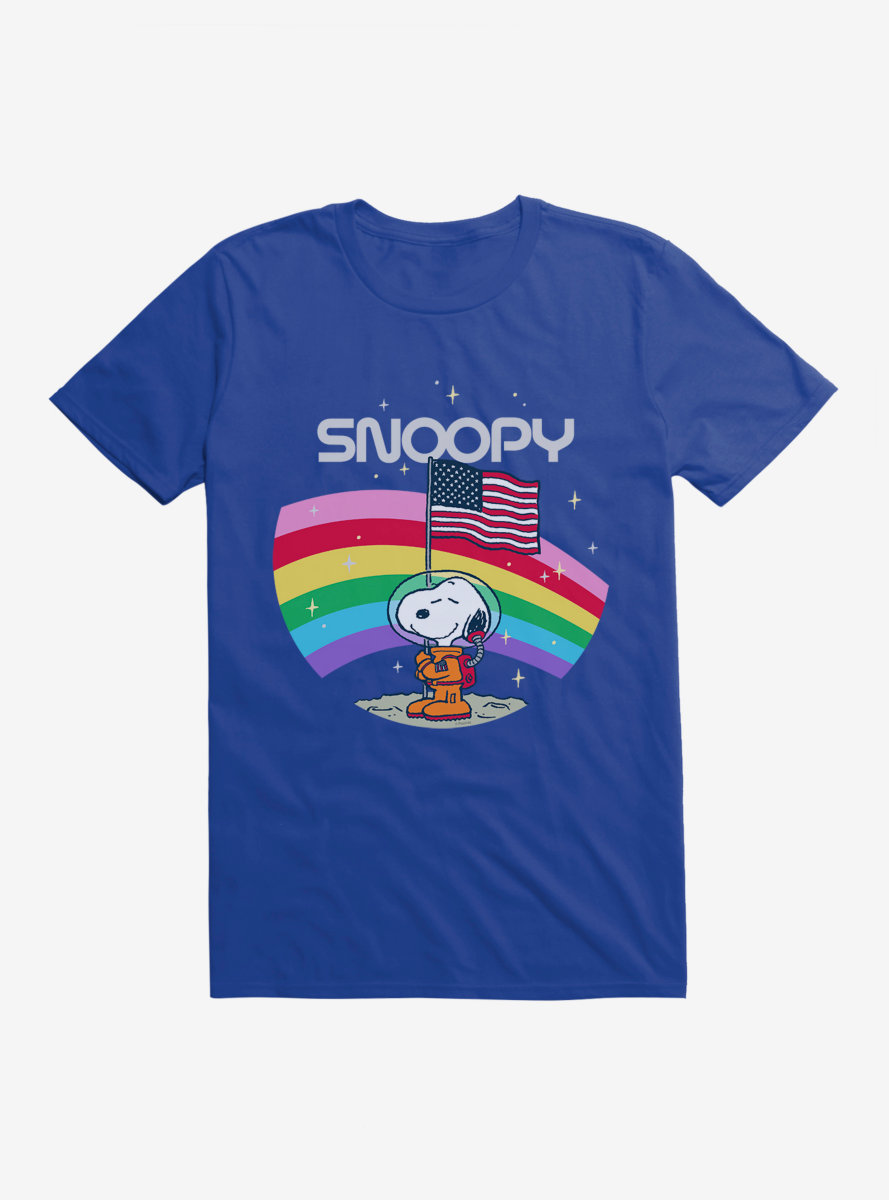Peanuts Space Travel Snoopy Space Rainbow T-Shirt
