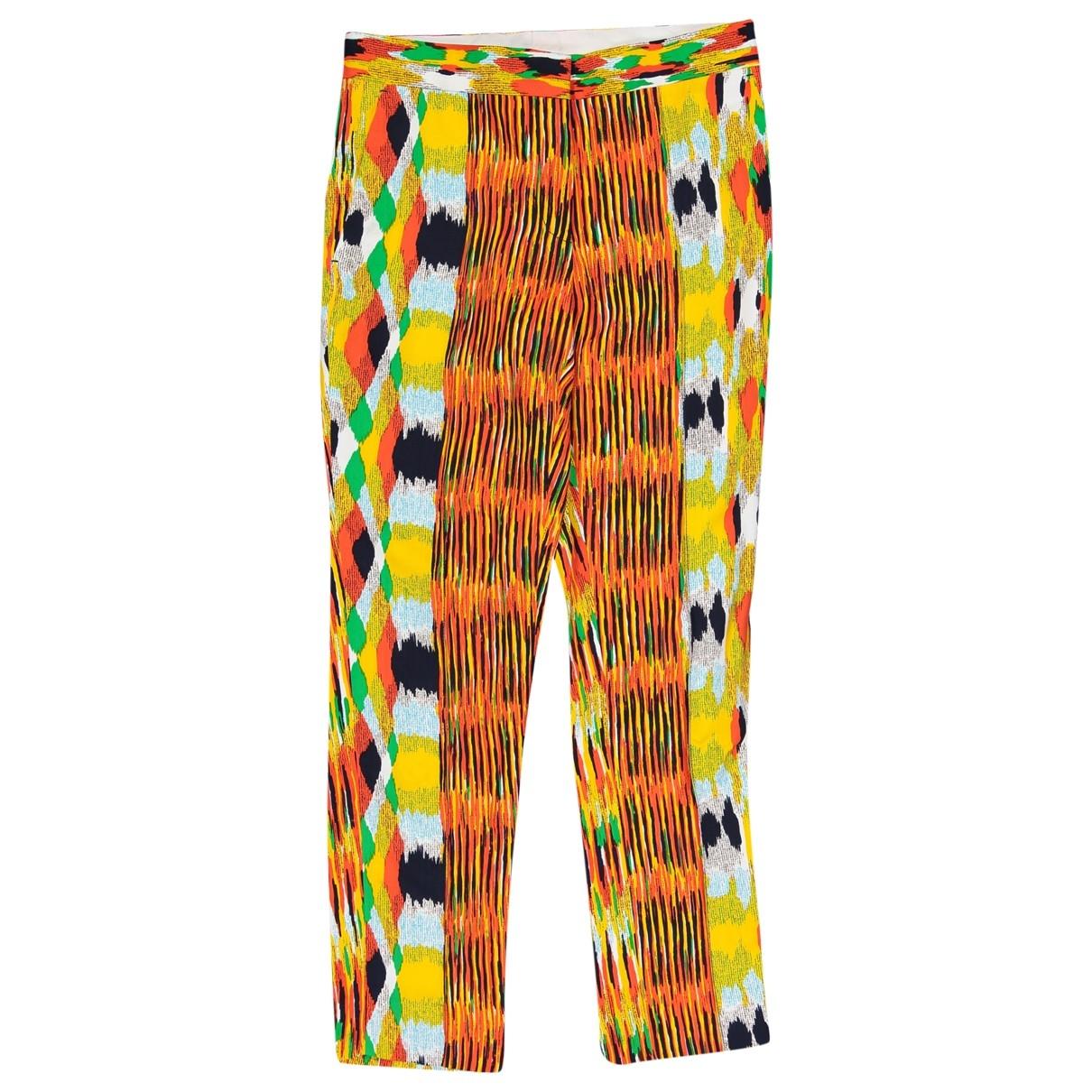Celine \N Multicolour Trousers for Women 36 FR