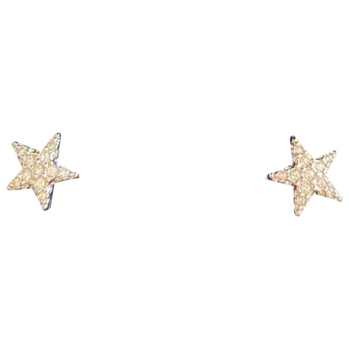 Swarovski - Boucles doreilles   pour femme en metal - blanc