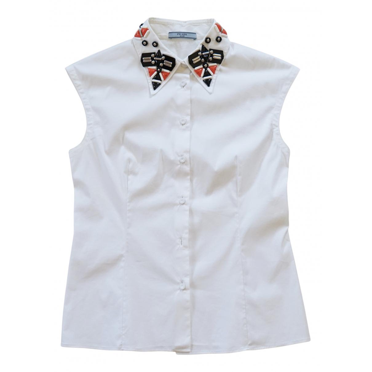 Prada N White Cotton  top for Women S International