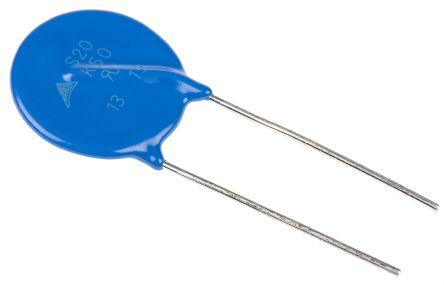 EPCOS , Standard Metal Oxide Varistor 3.8nF 100A, Clamping 135V, Varistor 82V (5)