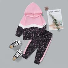Hoodie mit Schmetterling Muster & Jogginghose