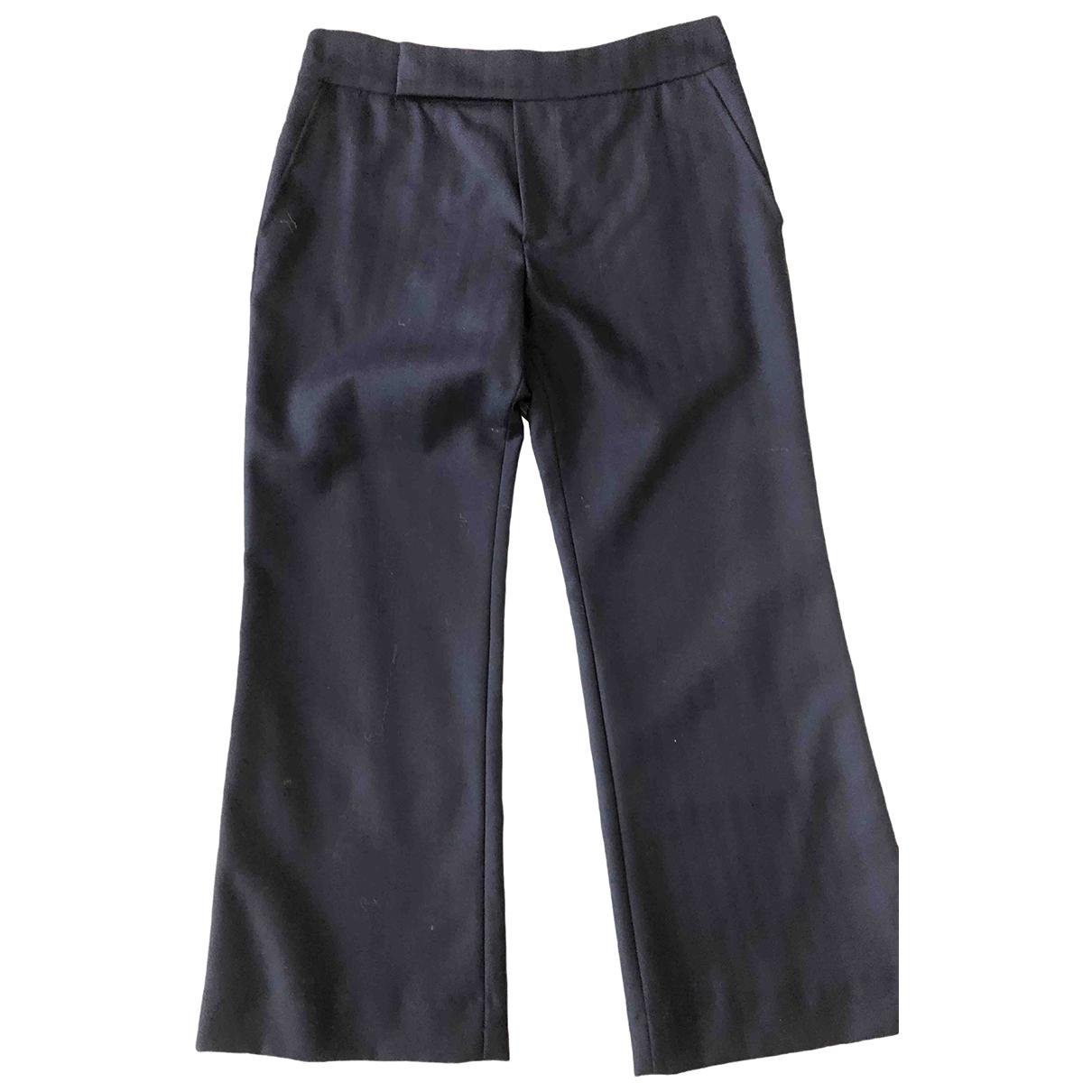 Marni \N Blue Wool Trousers for Women 38 IT