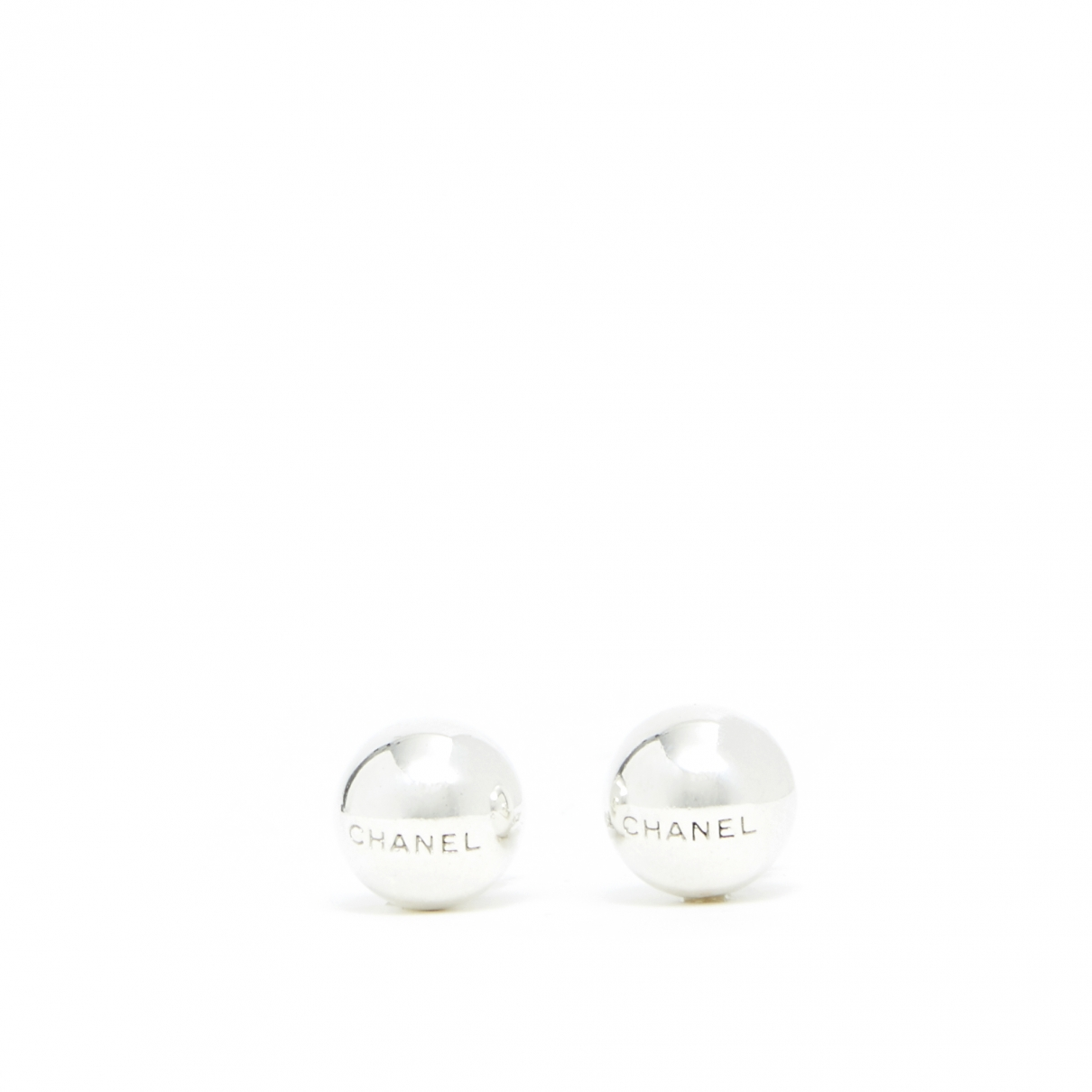 Chanel \N OhrRing in  Silber Metall