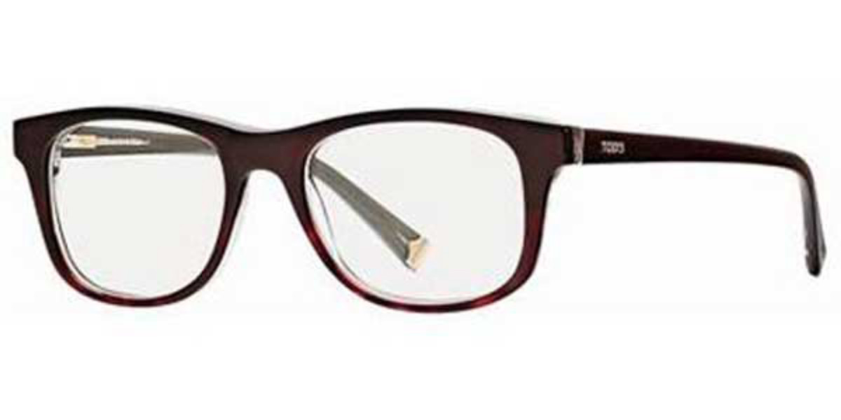 TODS TO5002 056 Men's Glasses Brown Size 50 - Free Lenses - HSA/FSA Insurance - Blue Light Block Available