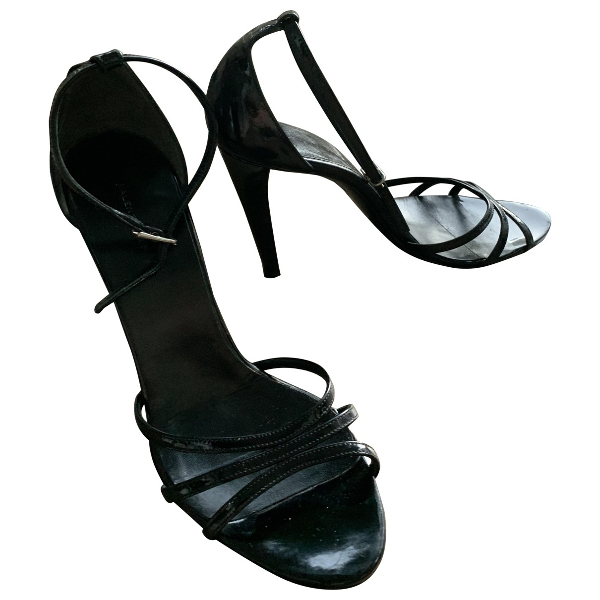 Balenciaga \N Black Patent leather Sandals for Women 40 EU