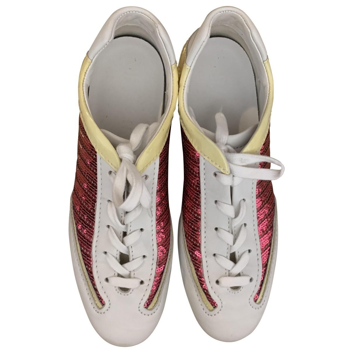 Hogan \N Sneakers in  Weiss Mit Pailletten