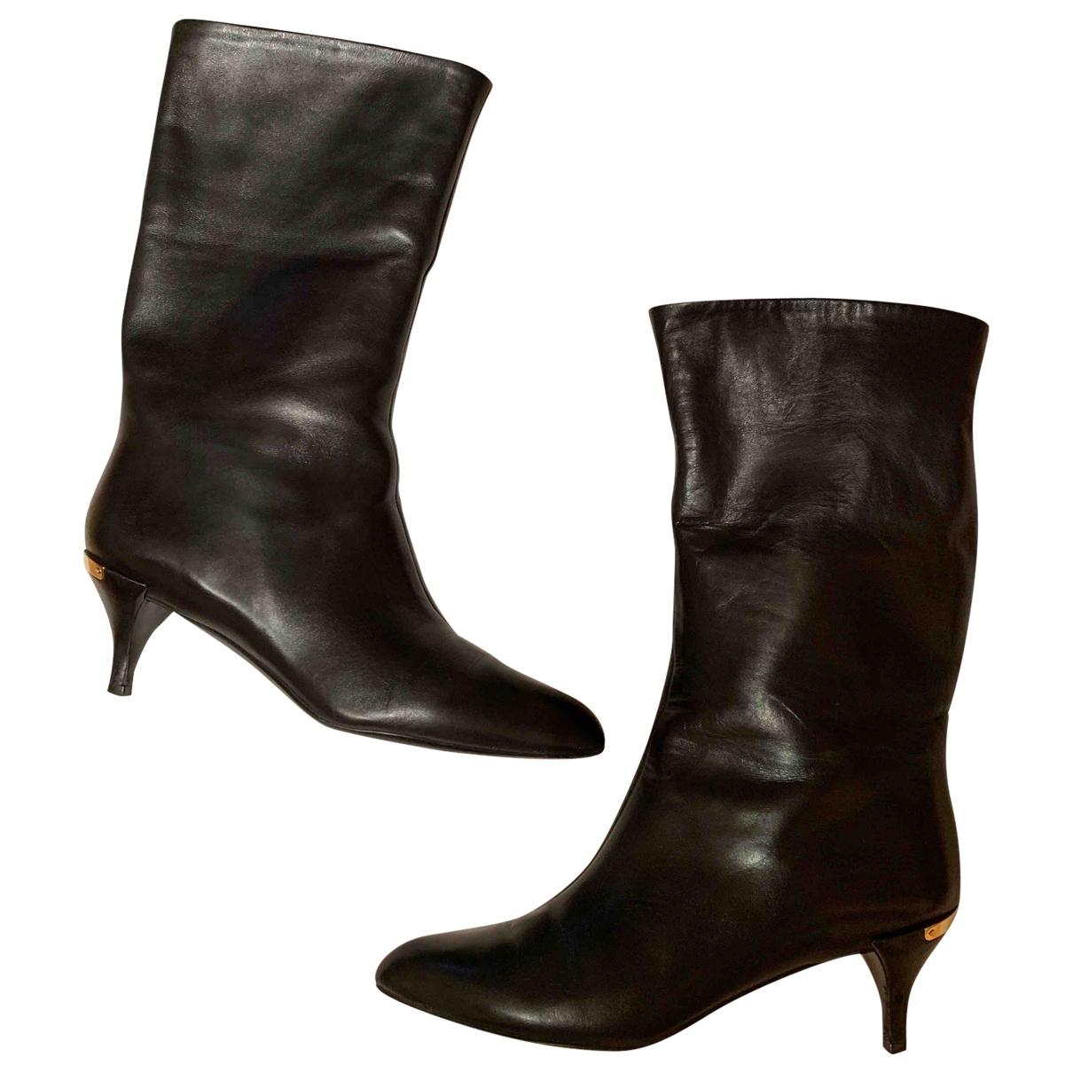 Louis Vuitton \N Black Leather Boots for Women 37 EU