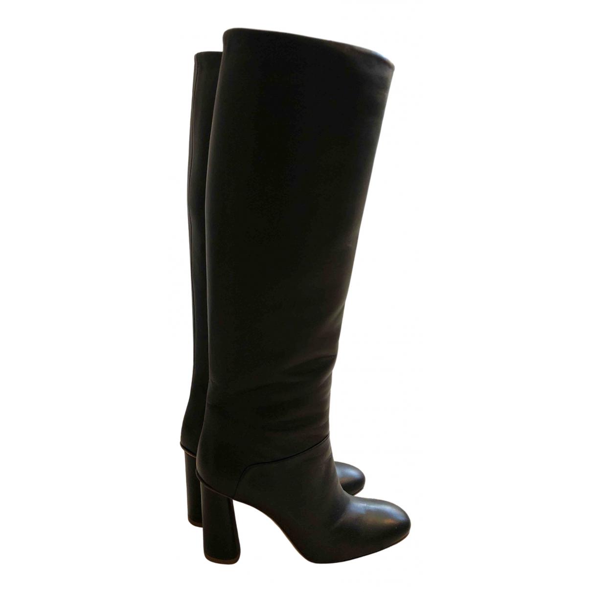 Acne Studios N Black Leather Boots for Women 36 EU