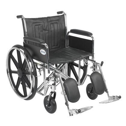 std22ecdfa-elr Sentra Ec Heavy Duty Wheelchair  Detachable Full Arms  Elevating Leg Rests  22