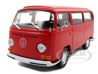 1972 Volkswagen Bus Van T2 Red 1/24-1/27 Diecast Model by Welly