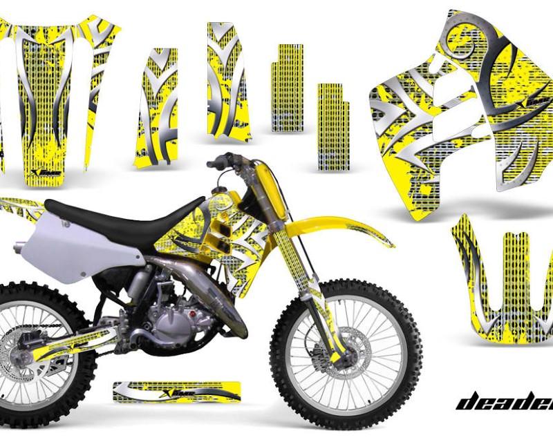 AMR Racing Dirt Bike Graphics Kit Decal Sticker Wrap For Suzuki RM125 RM250 1990-1992áDEADEN YELLOW
