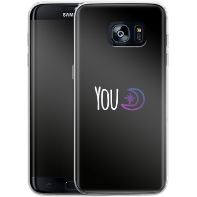 Samsung Galaxy S7 Edge Silikon Handyhuelle - You Moon von caseable Designs