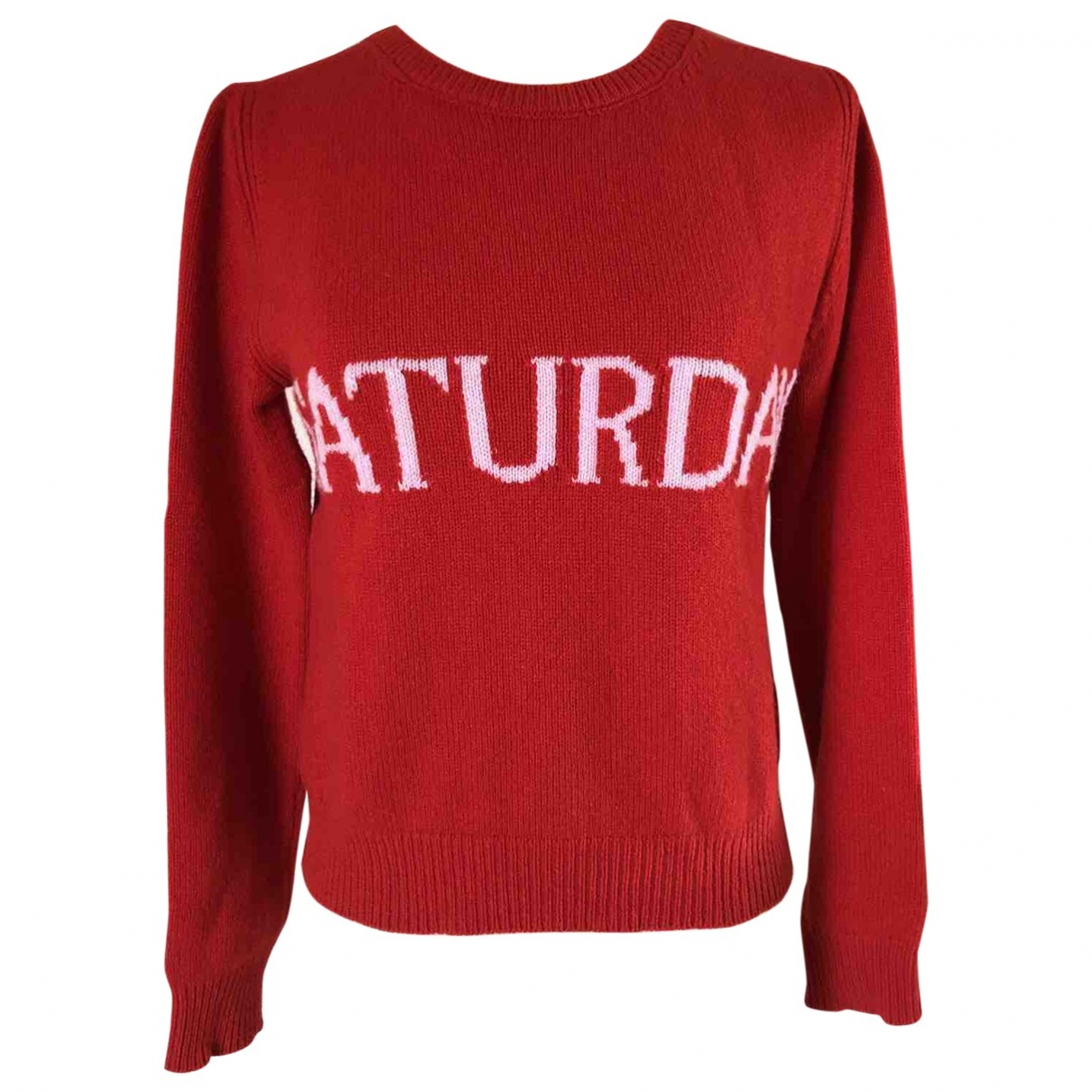 Alberta Ferretti - Pull   pour femme en laine - rouge