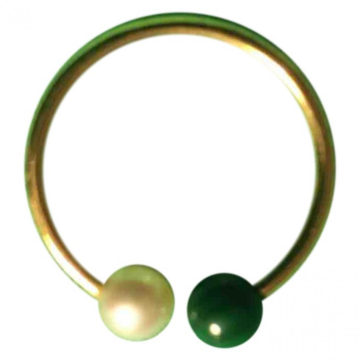 Claverin \N Ring in  Gruen Gelbgold