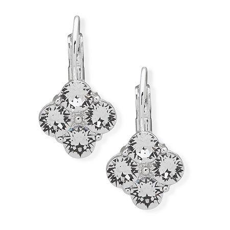 Gloria Vanderbilt 1 Pair Drop Earrings, One Size , White