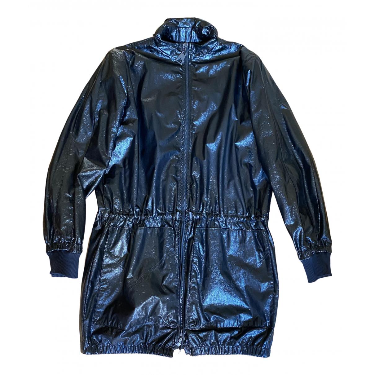 Abrigo en Sintetico Negro Louis Vuitton