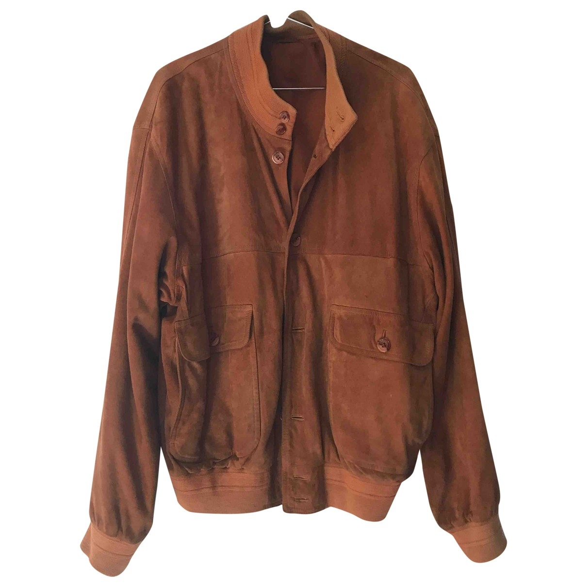 Non Signé / Unsigned \N Brown Leather jacket  for Men 52 IT