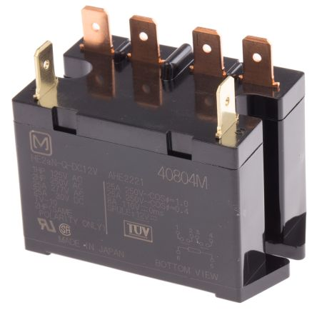 Panasonic , 12V dc Coil Non-Latching Relay DPNO, 30A Switching Current PCB Mount