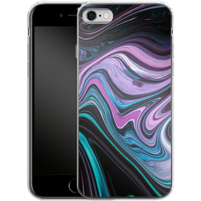 Apple iPhone 6s Silikon Handyhuelle - Digital Swirl von #basic