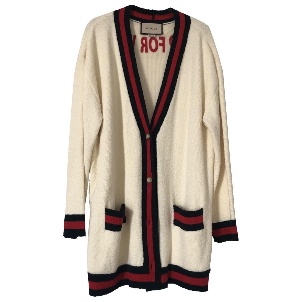 Gucci \N Ecru Cotton Knitwear for Women M International