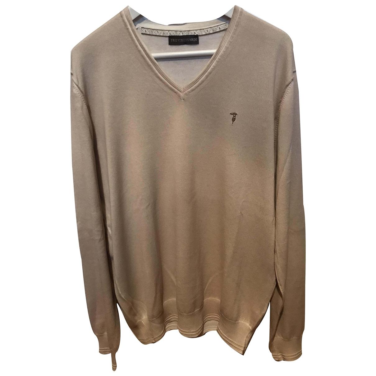 Trussardi \N Pullover.Westen.Sweatshirts  in  Beige Baumwolle
