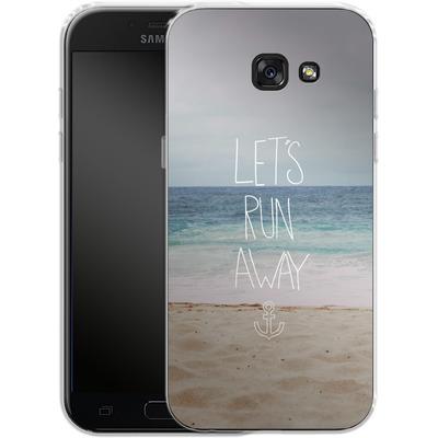 Samsung Galaxy A5 (2017) Silikon Handyhuelle - Lets Run Away - Sandy Beach von Leah Flores