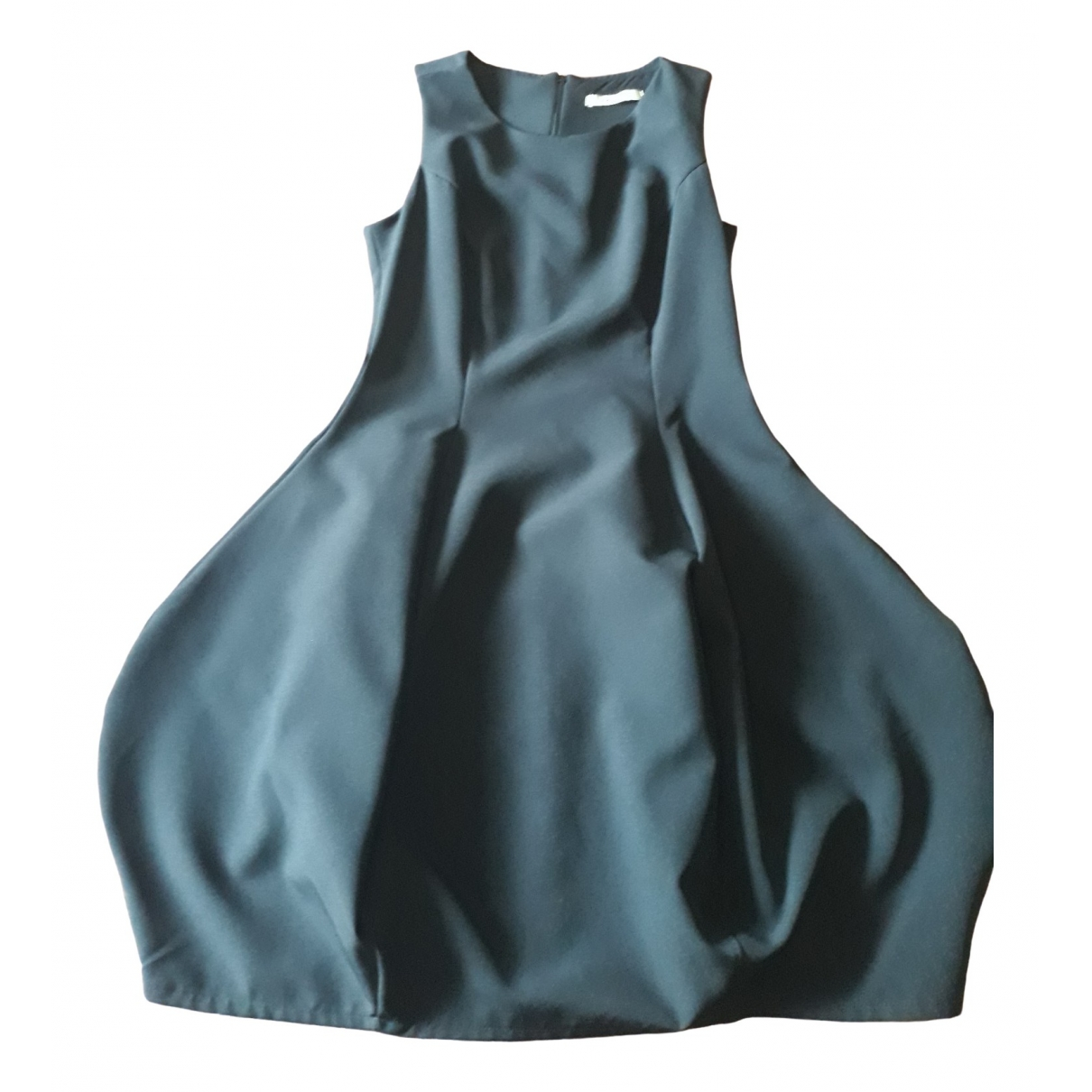Non Signe / Unsigned Manche ballon Kleid in  Schwarz Polyester
