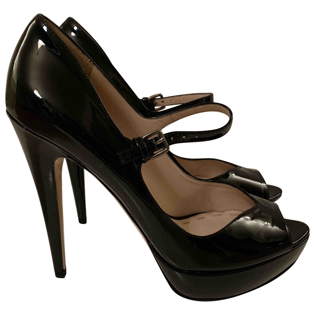 Miu Miu \N Black Patent leather Heels for Women 39 EU