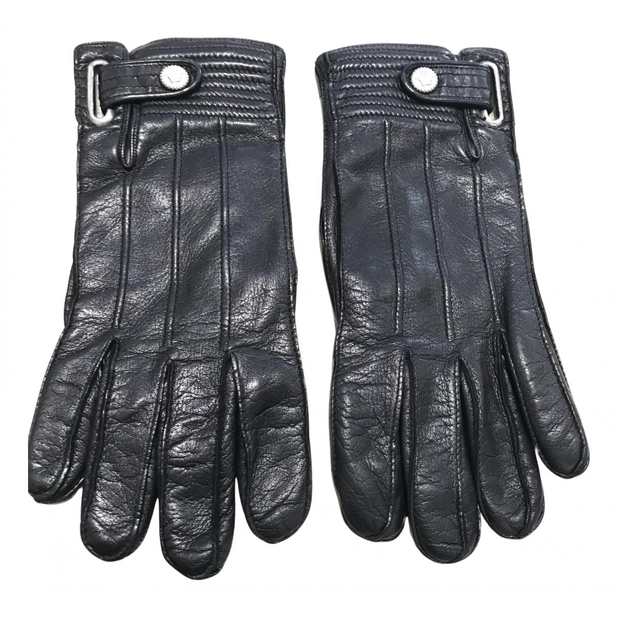 Gianni Versace \N Handschuhe in  Schwarz Leder