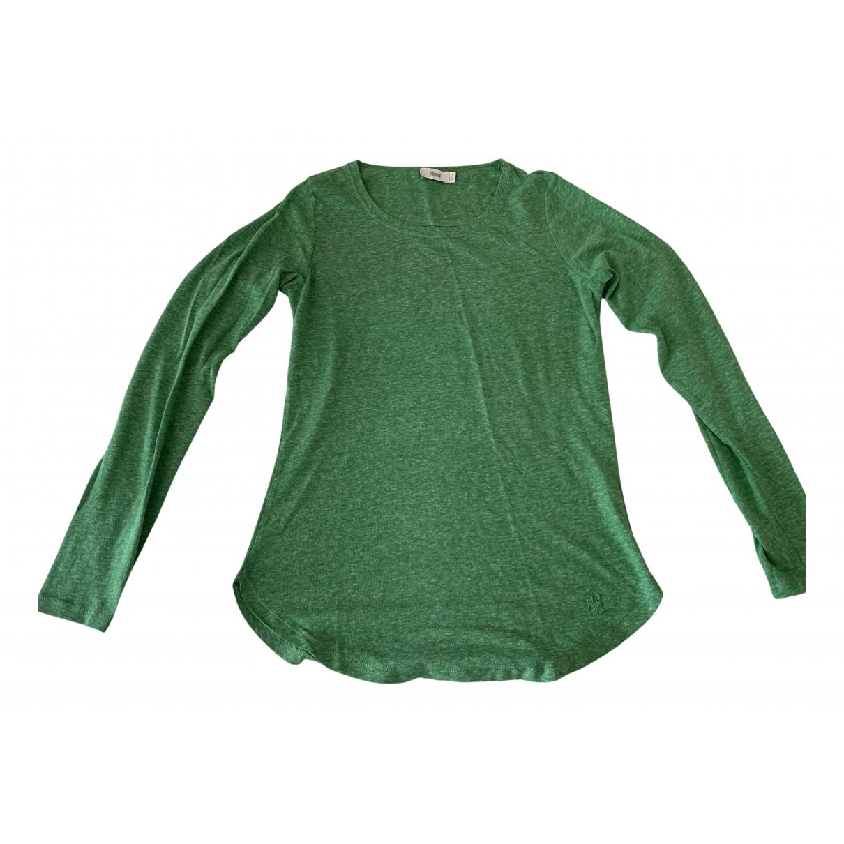 Closed - Pull   pour femme en coton - vert