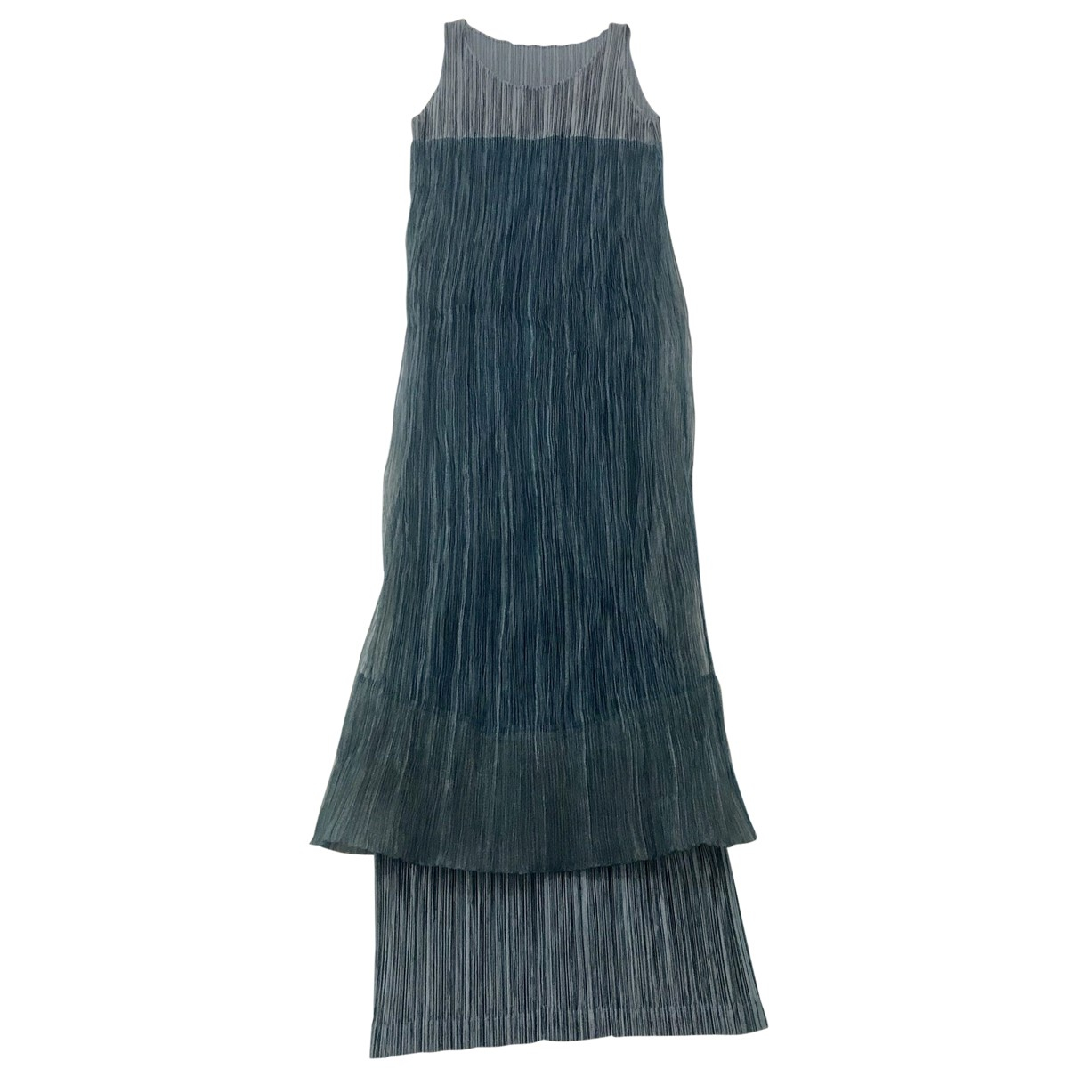 Issey Miyake \N Kleid in  Gruen Polyester