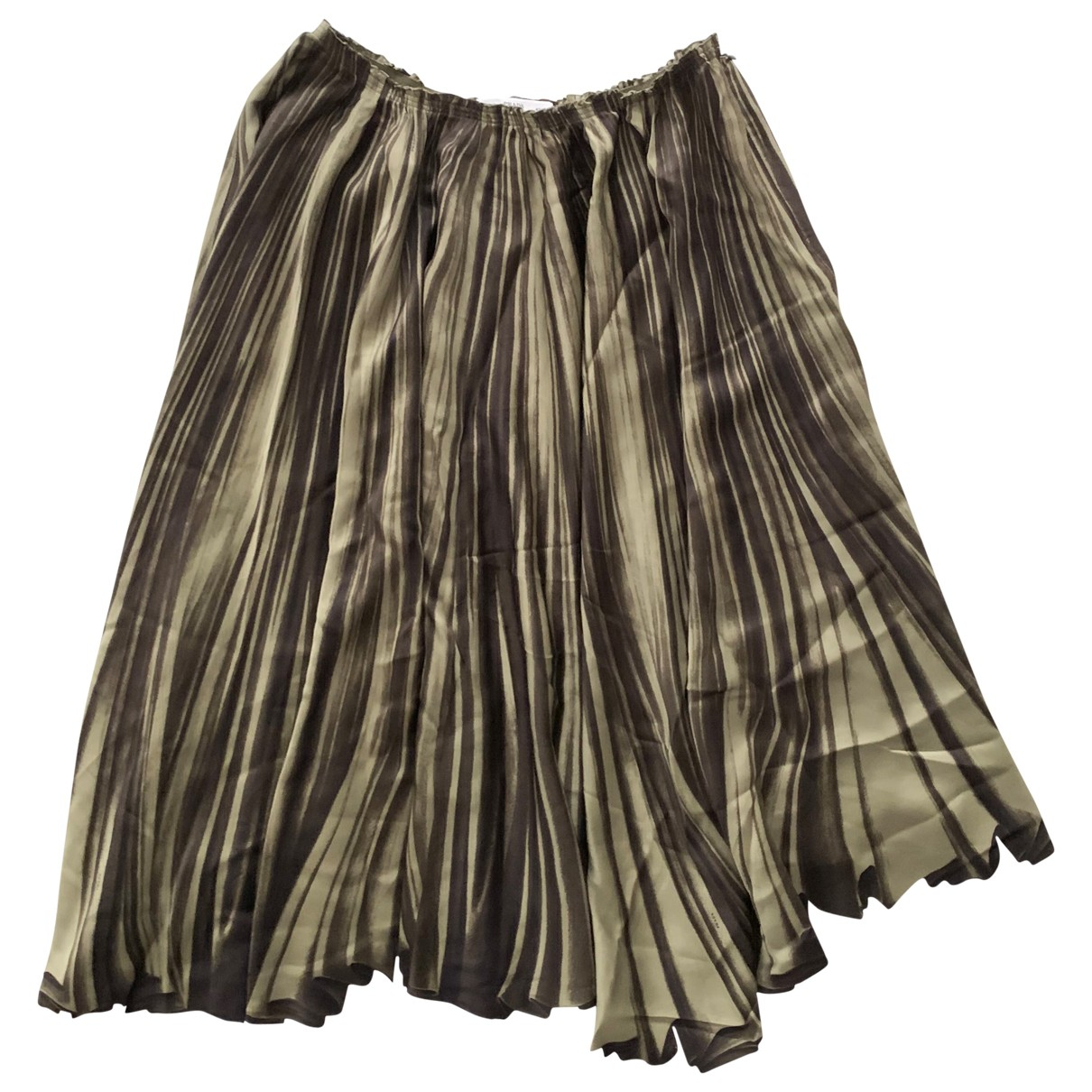 Prada \N Green Silk skirt for Women 42 IT