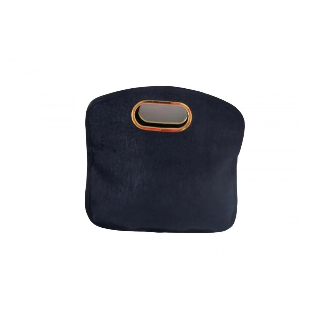 Non Signe / Unsigned \N Handtasche in  Marine Leinen
