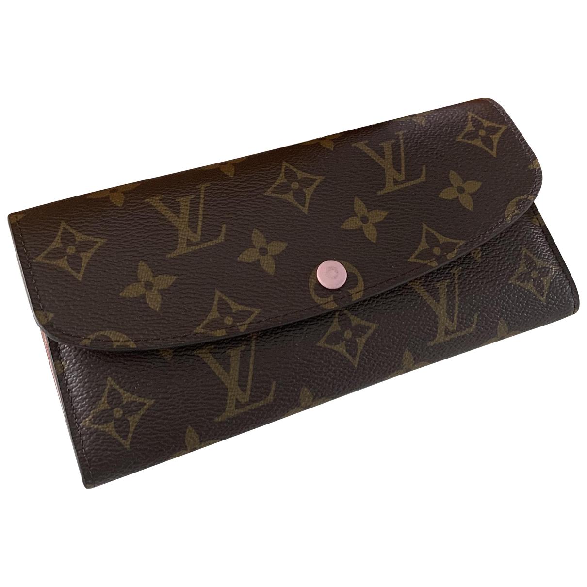 Louis Vuitton - Portefeuille Emilie pour femme en cuir - marron