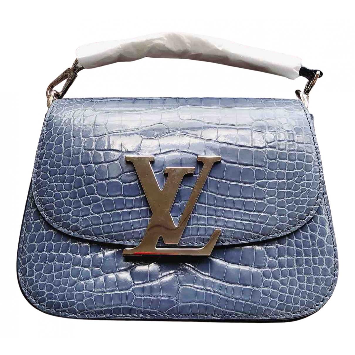 Louis Vuitton - Sac a main   pour femme en crocodile - bleu